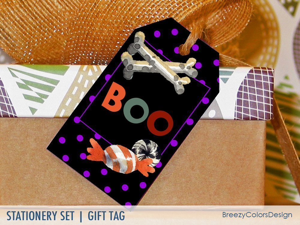Halloween Gift Tag - Candy Crossbones