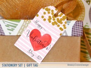 Happy Valentine's Day Gift Tag Printable